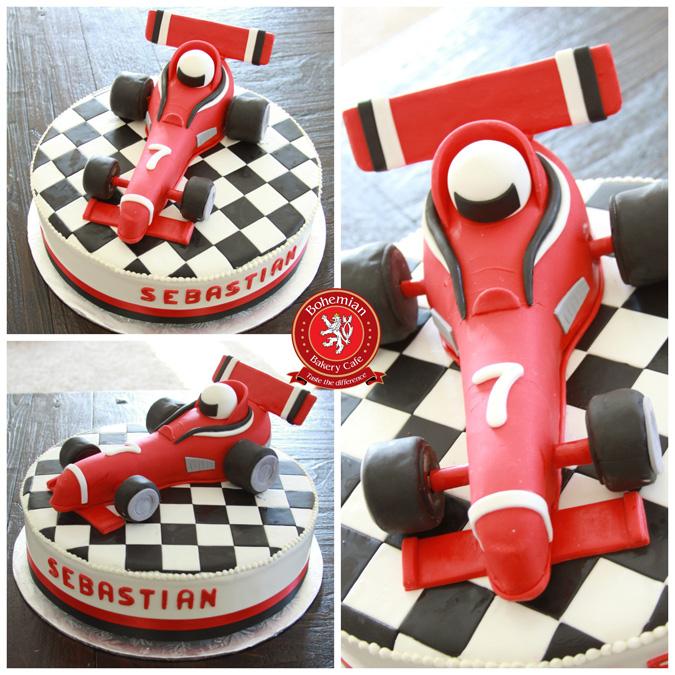 RED FORMULA 1 CAKE