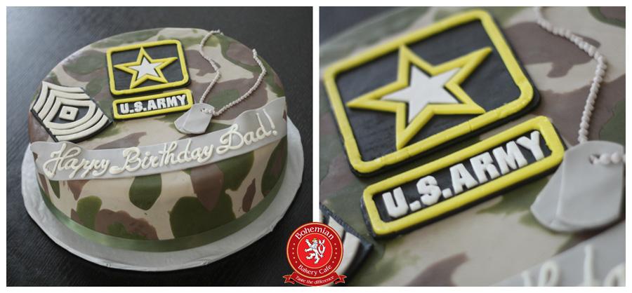 US ARMY CAMO CAKE