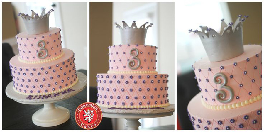 PINK AND SILVER PRINCESS CAKE