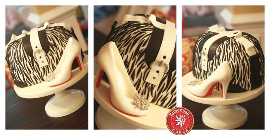 ZEBRA PURSE WITH SUGAR SHOE