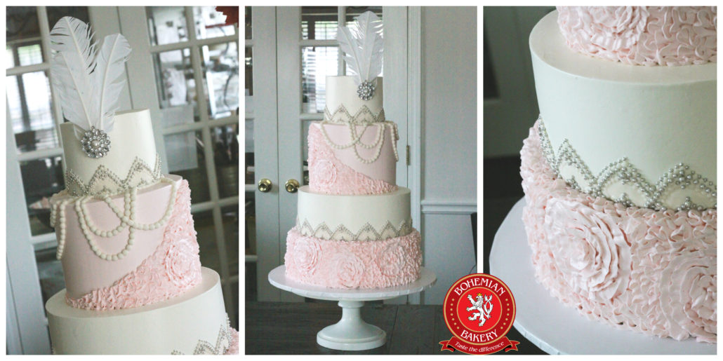 Art Deco Wedding Cake | Bohemian Bakery Atlanta Premiere Wedding Cakes