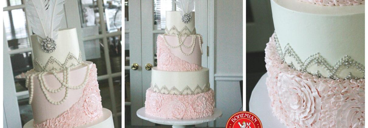 Art Deco Wedding Cake Bohemian Bakery Atlanta Premiere Wedding Cakes